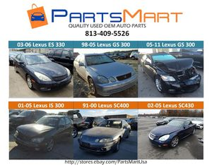 Lexus ES330 GS300 IS300 SC430 USED OEM PARTS for Sale for Sale in Tampa, FL