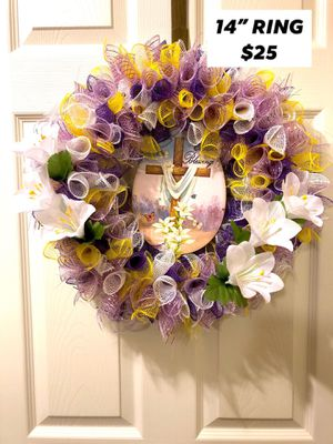 Spring summer Easter door wall mesh wreath for Sale in Florence, KY