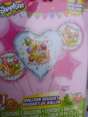 Brand new Shopkins five-piece balloon bouquet $10 for Sale in Virginia Beach, VA