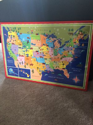 Land of Nod- US Map for Sale in Sully Station, VA