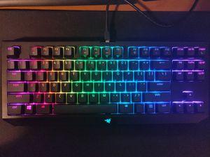 Razer blackwidow tlk with pbt keycaps for Sale in Parkersburg, WV