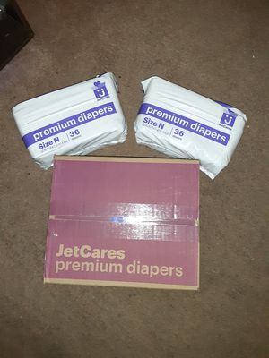 JetCares Newborn size diapers-180ct for Sale in Davie, FL