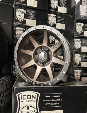 "17"" Icon Rebound Wheels&Tires Package • (4) Icon Rebound 6x139 Rims • (4) Falken Wildpeak AT3 265/70R17 Tires Special Package Deal Only $1350 for Sale in La Habra, CA"