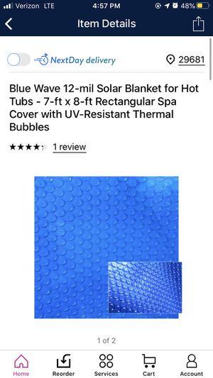Solar blanket for hot tub for Sale in Simpsonville, SC