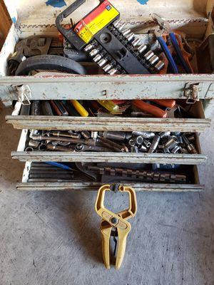 Tool box with all different variety of tools for Sale in Dearborn, MI