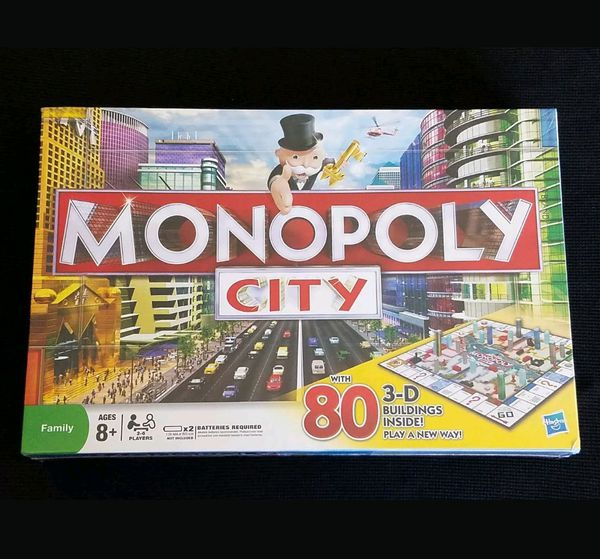 MONOPOLY CITY Edition with 80 3-D Buildings
