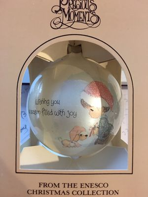"""From the Enesco Christmas Collection - Precious Moments Christmas Ornament """"Wishing u a season filled with Joy"""" for Sale in San Jose, CA"""