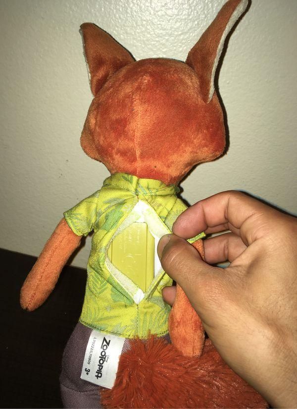 zootopia NICK WILDE plush talks toy