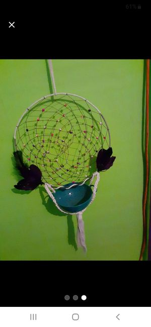Homemade dreamcatcher bowl holder for Sale in Owosso, MI
