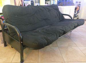 Black futon with metal frame for Sale in Boynton Beach, FL