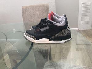 Jordan Black cement 3s for Sale in Kansas City, MO