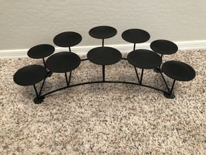 10 candle holder pillar candle stand Black Fireplace Candelabra stand for Sale in Gilbert, AZ