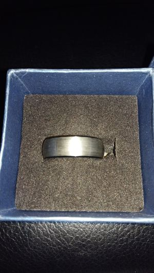 Brushed Silver w/ black Ring Size 11 Tungsten Carbide for Sale in Jacksonville, FL