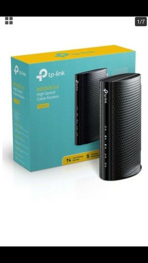 TP-Link DOCSIS 3.0 (16x4) High Speed Cable Modem, Max Download Speeds of 686Mbps, Certified for Comcast XFINITY, Time Warner Cable, Cox Communication for Sale in Hacienda Heights, CA