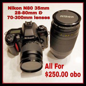 Nikon N80 & 2 Lenses for Sale in La Mirada, CA
