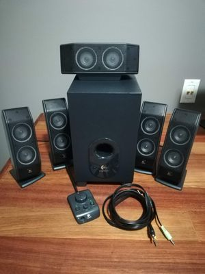 Logitech X-540 5.1 Surround Sound Speaker System with Subwoofer for Sale in Aldie, VA