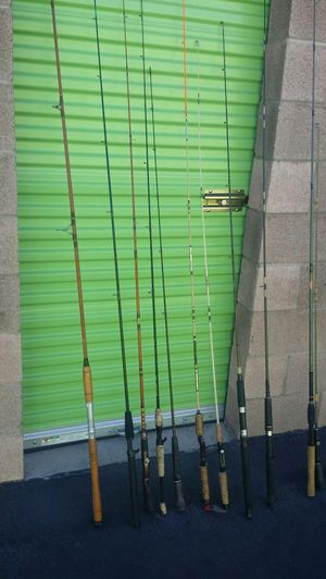 A couple of dozen fishing rods about eight or nine of them have reels ... $8 for Sale in Las Vegas, NV