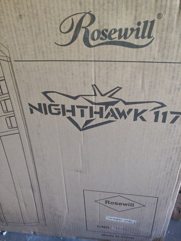 ROSEWILL ATX Full Tower Gaming Computer Case, Supports up to 420mm Long VGA Card, 5 Fans Pre-installed, Fan Speed Control - NIGHTHAWK 117