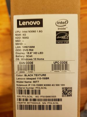 Lenovo New in box laptop for Sale in Rosedale, MD