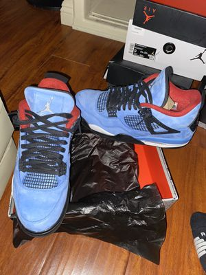 Travis Scott Jordan 4s sz 10.5 passes as VNDS only used once condition 9.5/10 for Sale in Lynwood, CA