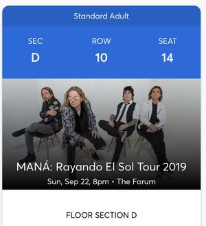 Mana floor ticket for Sale in Los Angeles, CA