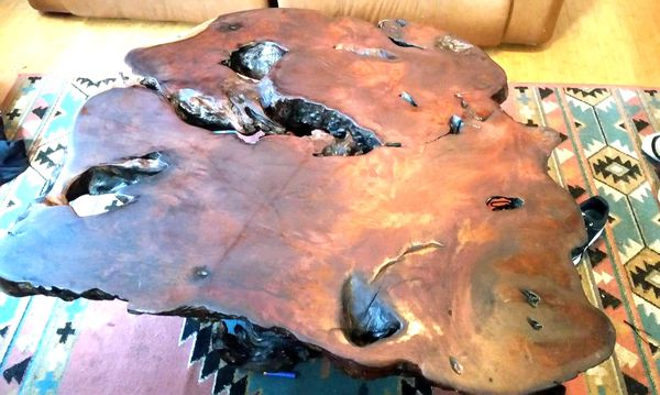 Artisans Vintage Redwood Burl Table