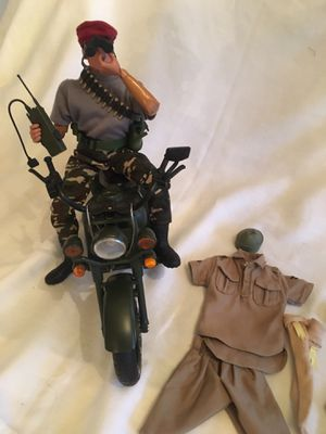 """GI Joe 12""""Action Figure w motorcycle (handle bars need to be repaired) $50 for Sale in Toms River, NJ"""