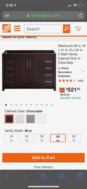 Westcourt 48 inch bathroom vanity for Sale in Richmond, VA