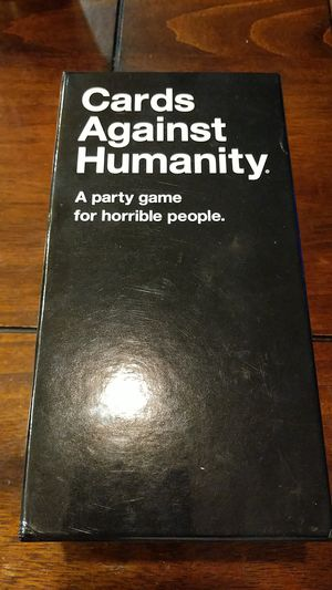 Cards against humanity card game for Sale in Rialto, CA