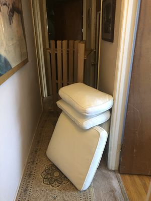 Futon frame full size and cushions down filled for Sale in Pinole, CA