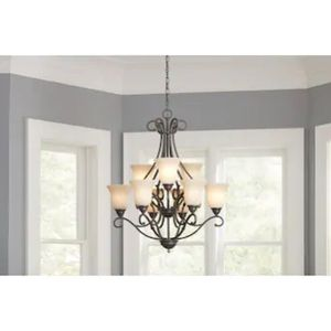 9-Light Iron Stone Chandelier for Sale in Bloomfield, CT