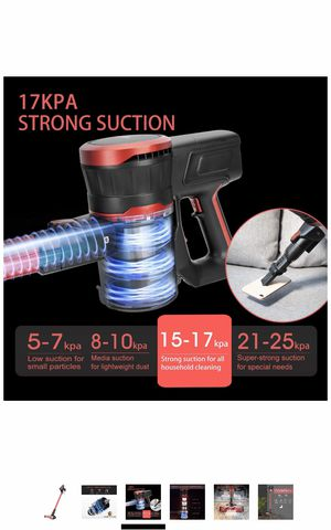Cordless Vacuum Cleaner Strong 15Kpa 30mins with Advanced Brushless Motor LED 2500mAh 8-Cell Battery 2-in-1 Handheld Stick Vacuum for Sale in Elkridge, MD