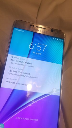 Galaxy note 5 unlocked to any carrier for Sale in Fresno, CA