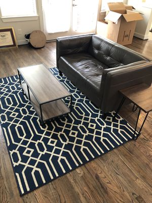 Living room couch rug coffee table end table set for Sale in Houston, TX