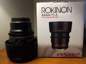 Rokinon 85mm T1.5 Cine DS Aspherical Lens for Micro Four Thirds #DS85M for Sale in Waukegan, IL