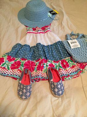 2T Girl Flower, Eyelet, Polka Dot Spaghetti Strap Dress for Sale in Bountiful, UT
