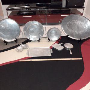 Decrotive hammered aluminum trays for Sale in Boynton Beach, FL