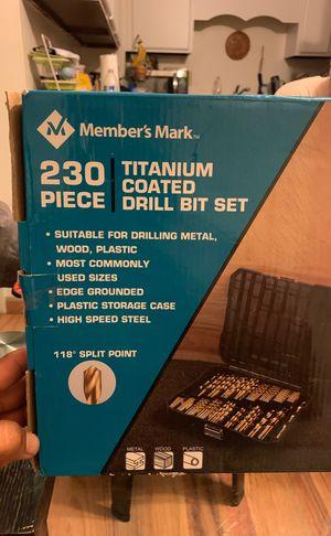 230 piece titanium coated drill bit set for Sale in Worthington, OH
