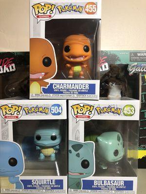 Funko Pokemon Pop Bulbasaur Squirtle Charmander Collectible for Sale in Carson, CA