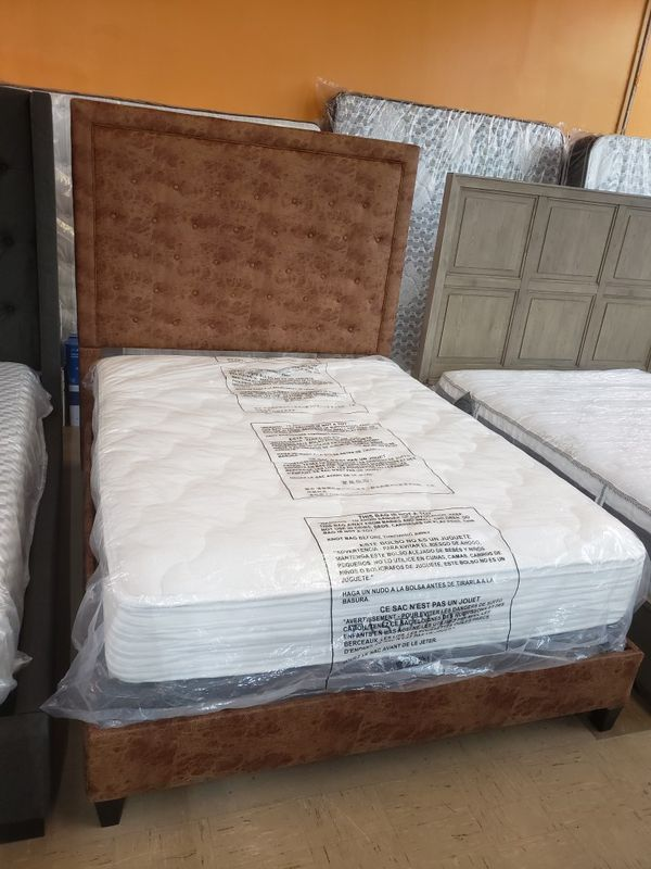 Queen Size bed ,mattress and box spring........ for Sale ...
