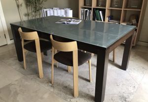 TALBLE ONLY •Table w/ Frosted Glass 60 x 32 & 28 height (Table Only) for Sale in Coral Gables, FL