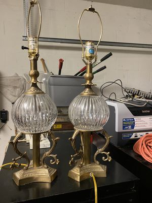 Brass table lamps for Sale in Land O Lakes, FL