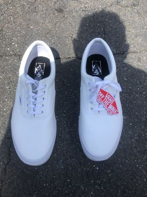Vans White leather low top brand new size 12 for Sale in Martinez, CA