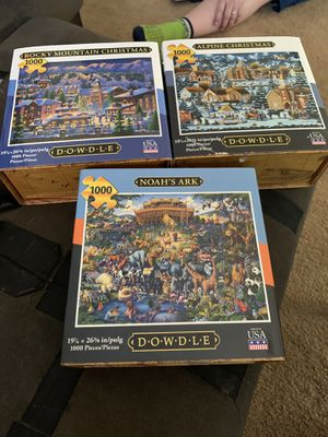 Dowdle 3 brand new puzzles 1000 piece for Sale in Graham, WA