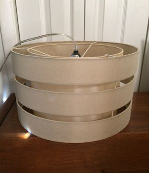 Hanging Light Fixture with Drum Shade for Sale in Temple Terrace, FL