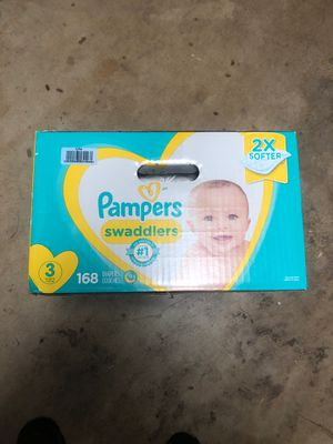 Pampers Swaddlers size 3 - 1x168 box + 55 for Sale in Upland, CA