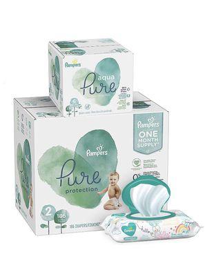 Pampers Pure Protection Diapers, Size 2 OR 1 198 Count & Baby Wipes 336 Count for Sale in Pittsburgh, PA
