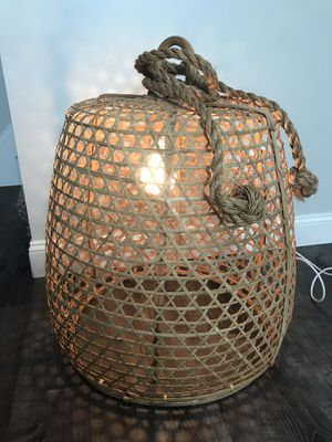 Floor lamp, or can be hung for Sale in Columbus, OH