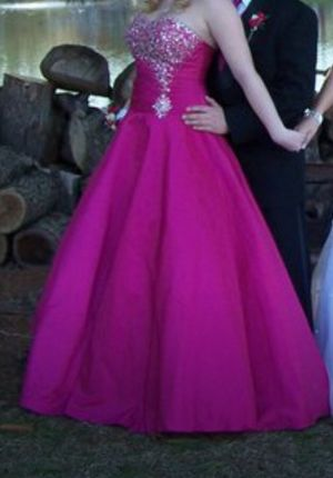 Hot Pink Princess style prom dress for Sale in Bloomington, IL