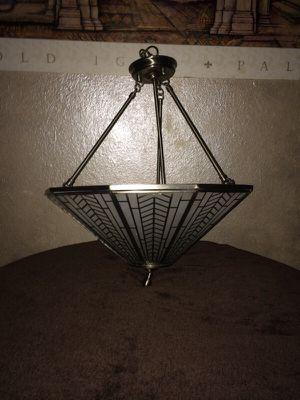 Silver Art Deco Light fixture for Sale in Stockton, CA